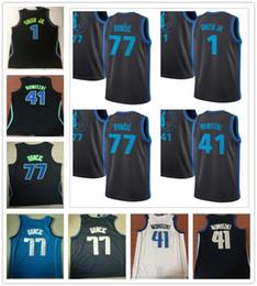 cb9118e25 Cosido último estilo 41 Dirk Nowitzki Jersey Sportswear New City Azul  marino Blanco Negro 1 Dennis