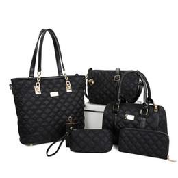 $enCountryForm.capitalKeyWord Canada - Pink sugao luxury bag shoulder quilt sew nylon 6pcs set fashion designer handbag tote bag crossbody bag women messenger purses with wallet