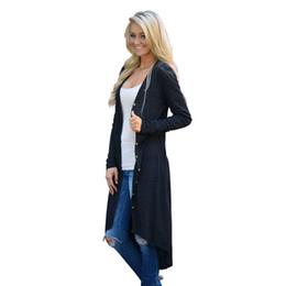 Soft Loose Knit Sweater UK - Cardigan Women 2018 Autumn Loose Sweater Long Sleeve Knitted Outwear Jacket Female Cardigan Pocket Soft Knitting Pull FemmeY1882402