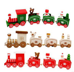 kindergarten christmas gifts Australia - Christmas Children Wooden Small Train Christmas Gift Toys Decorative Props For Home Kindergarten Festive Decor New Year's Supplies