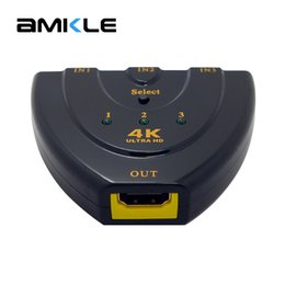 4k dvd 2018 - Amkle Mini 3 Ports HDMI Switch 1.4b 4k*2k 3D Switcher HDMI Splitter 3 in 1 Out Port Hub for DVD HDTV Xbox PS3 PS4 1080P