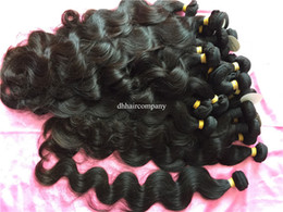 Dyeing Hair Black Australia - Body Wave Brazilian Virgin Hair Extensiones 3 Bundles lot Natural Black #1b Raw Indian Peruvian Malaysian Human Hair Can Be Dyed and Bleache