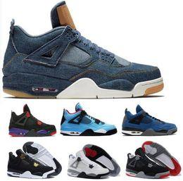 87181fa684ad Men Basketball Shoes Sneakers 4 4s Womens Man Purple Cactus Jack Alternate  Eminem Cement Kaws Bred Denim Travis IV 2018 Zapatos Sport Shoes