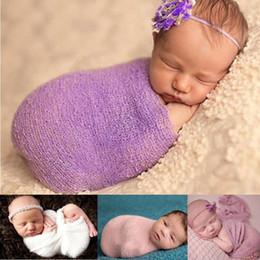 $enCountryForm.capitalKeyWord NZ - Baby Girl Photography Props Accessorie Newborn Bed Wraps Infant Clothes Babywear Receiving Blankets Hemp Swaddling Sleeping Sack