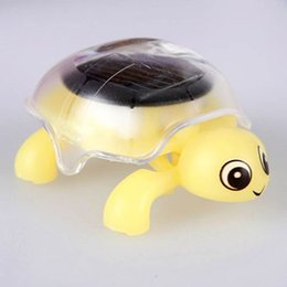 Discount educational gadgets for kids - 2017 Mini Solar Powered Energy Cute Turtle Tortoise Gadget Gift Educational Toy For Kids 4 Color X2 Free Ship
