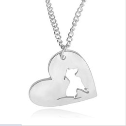 Pet memorial pendant necklace dhgate uk wholesale 1pcs pitbull necklace pendant pit bull heart pendant dog memorial pet necklaces pendants women animal charms christmas gift aloadofball Images