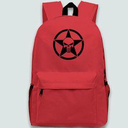 $enCountryForm.capitalKeyWord Canada - Punisher backpack Star logo day pack Cool school bag Leisure packsack Quality rucksack Sport schoolbag Outdoor daypack