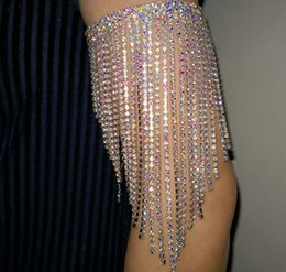 Belly dancing Bracelets online shopping - belly dance Rhinestone arm bracelet AB colorful