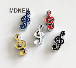 $enCountryForm.capitalKeyWord Canada - 20pcs DIY accessory zinc alloy 8mm Music Note Slide Charms Beads DIY 8MM Dog Cat Collar Wristband
