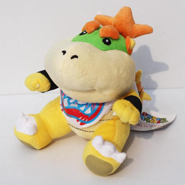 "Koopa Figures Australia - Super Mario bros plush toys 7"" Koopa Bowser dragon plush doll Bowser JR soft Plush"