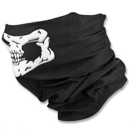 Discount wholesale biker caps - Skull Mask Skeleton Motorcycle Biker Scarf Face Neck Bandana Ski Paintball Snood