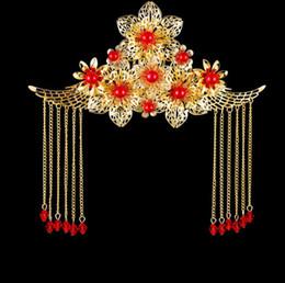 $enCountryForm.capitalKeyWord NZ - Cheongsam accessories, Chinese antique brides, headwear, ancient costume, wedding dress, dragon and Phoenix gown, headwear, Xiu and Feng Fen
