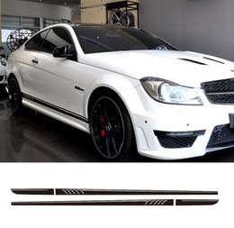 Automobile Car Racing Sport Stripes For C Class Vinyl Door Decal Side Decor Sticker Car Styling D4-254 Moderate Price Exterior Accessories Automobiles & Motorcycles