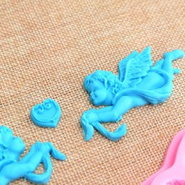 Silicone Handmade Tools Australia - 1pc 3D Love Cupid Silicone Fondant Mold Handmade Soap Chocolate Decoration Tools DIY Kitchen Baking Mould Candle Mold