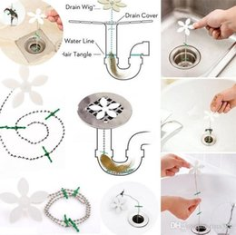 Cleaning Blocks Australia - Bathroom Shower Drain Wig Chain Cleaner Hair Clog Cleaning Blockage Wig Preventer Anti Blocking Cleaning Tools I063