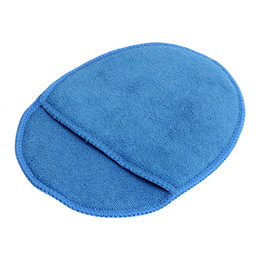 Microfiber car polishing online shopping - Glass Washing Sponge Foam for Car Home Cleaning Soft Microfiber Polish Pad With Pocket Paint Care Blue Car Wax Sponge