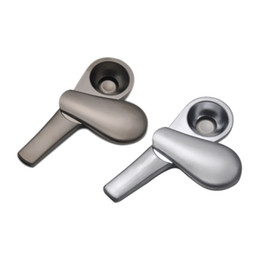 mini metal magnets UK - Metal Pipe Spoon Shape Zinc Alloy Magnet High Quality Mini Smoking Pipe Tube Portable Unique Design Easy To Carry Clean