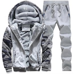 sport winter jackets UK - 2018 winter clothing plus velvet Jackets men's sports camouflage suit men's extra large size slim thick warm jacket 5XL