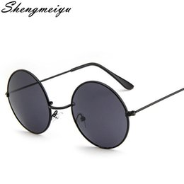 50903a645008 Gothic Steampunk Sunglasses Men Metal Round Shades Male Clear Sun Glasses  For Women Hip Hop Steam Punk