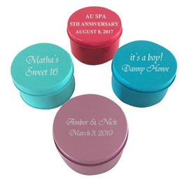 Personalized baby gifts wholesale online personalized baby gifts free logo printing personalized round mint tin candy box wedding baby birthday party favor gifts holder negle Gallery