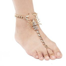 $enCountryForm.capitalKeyWord UK - 2017 New Scorpion Ankle Bracelet Barefoot Sandals Foot Jewelry Leg New Anklets For Women To Beach Chain Anklet