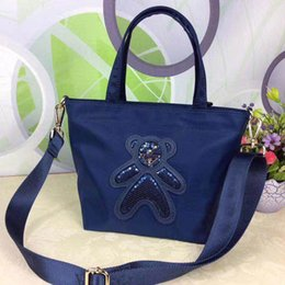 Purses Tote Bags NZ - wholesal waterproof high Quality Orignal Bear shopping bag cowhide leather fashion shoulder bag Tote handbags presbyopic purse messenger bag