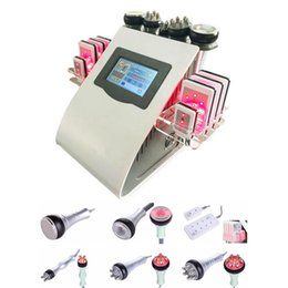 China New Promotion 6 In 1 Ultrasonic Cavitation Vacuum Radio Frequency Lipo Laser Slimming Machine for Spa suppliers