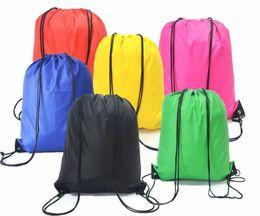 $enCountryForm.capitalKeyWord Canada - kids' clothes shoes bag School Drawstring Frozen Sport Gym PE Dance Backpacks Nylon backpack polyester cord bag 500Pcs