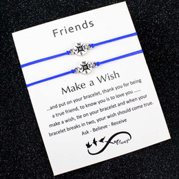 Discount niece charm - Make a Wish Dream Best Friends Thanksgiving Gift Grandma Granddaughters Aunt Niece Mother Daughters Compass Bracelets fo
