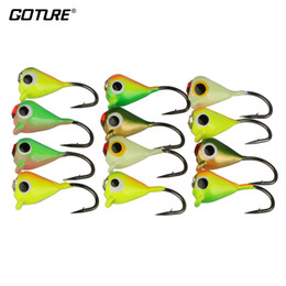 Fishing Lure Jig Tackle Australia - Lures Goture 12pcs 1g 1.4cm Winter Lure Ice Fishing Jig Fake Artificial Bait Fishing Tackle