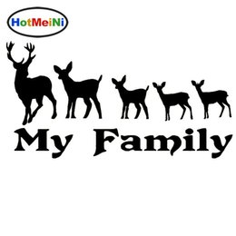 Hunting Decals Stickers NZ - Wholesale Car Decorations Vinyl Decal Car Glass window Stickers any flat surface Jdm Deer Family Hunting Bow