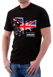 pop tees Australia - Oasis Band Music Logo UK Flag Liam Gallagher Noel Men's T-Shirt Pop Cotton Man Tee Men Casual Short Sleeve T Shirts