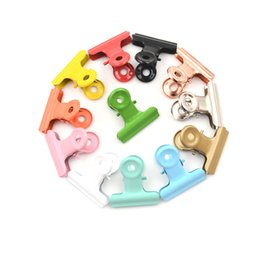 Discount metal binder clips - 5pcs lot Cute Metal Binder Clips 12 Colors Folder Notes Letter Paper Clip Clamp School Office Stationery