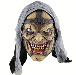 Masks Wig NZ - 2018 Witch Human Skeleton Dance Party mask Venetian mask masquerade full face Witch masks with wig hair piece Festive event Supplies