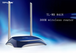 Discount dhl wireless router TP-LINK TL-WR841N 300M wireless router through the wall to support WIFI   DDNS Blue factory wholesale DHL free shipping