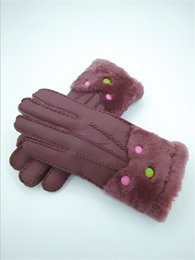 Leather Wrist Gloves Australia - New High Quality Hot Women Winter Gloves Genuine Leather Warmth Gloves Winter Essential Leather Wool Gloves