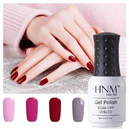 Discount purple gel nail polish - HNM 194 Rough Colors 8ML Gel Nail Polish Hybrid Varnish Semi Permanent UV Led Gel Nail Polish GelLak Soak Off Gelpolish