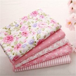 $enCountryForm.capitalKeyWord NZ - Hot 40*50CM 5PCS Sweet Pink Printed Cotton Fabric DIY Patchwork Sewing Baby Toy Material Quilting Bedding