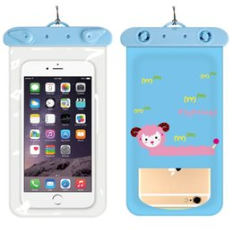 hot iphone girl Australia - Hot Cartoon Universal Cover Waterproof Phone Case For iPhone 7 6S Coque Pouch Waterproof Bag Case For Samsung S8 Swim Waterproof Case