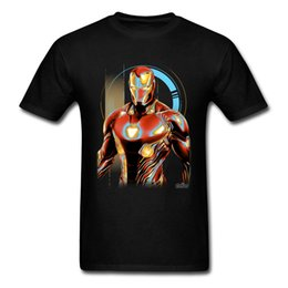 ba27daca6 Men Cool Design Fashion Brand T Shirt Glowing Iron Man Superhero Man Print  Tshirt For Boy Popular Tops Tees Wholesale On Sale Good Quality