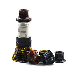 $enCountryForm.capitalKeyWord UK - Mini Super Tank Epoxy Resin Snake Skin Grid Pattern Drip Tips Mouthpiece For Tobeco MINI SUPERTANK Drip Tip Wide Bore Glass Gold