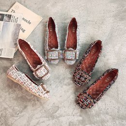 Discount flat shoes korean styles - Free freight spring new style Korean version of autumn shoes with flat-bottomed single shoes doudou women's shoes