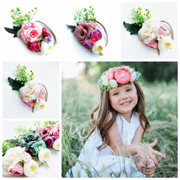 Hair band wings online shopping - INS Girls Wing Lace Headbands Set Children Artificial Flower Hair Bows Kids Nylon Hair Band Set Fashion Kids Hair Accessory CCA10325