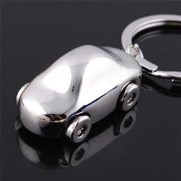 Discount car shape logos - 10 Pcs Metal Car Shape Key chain Keychain Lover Housekeeper Key Holder Zinc Alloy Keyring Charm pendant Customized Logo
