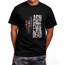 1f0bc9cc New Ash Vs Evil Dead Series Short Sleeve Men's Black T-Shirt Mens T Shirts  2018 Fashion Base Shirt