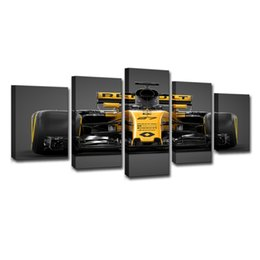 $enCountryForm.capitalKeyWord Australia - Painting Home Decor For Room Wall Art Frame Canvas HD Printed Racing Poster 5 Panel Sports Car Modular Pictures