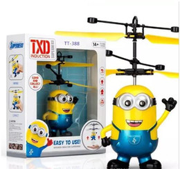 light helicopters toy NZ - RC helicopter Drone kids toys Flying Ball Aircraft Led Flashing Light Up Toy Induction Electric sensor for Children