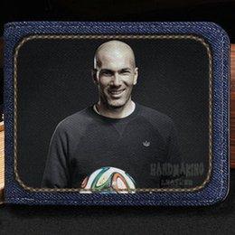 Cartera Zinedine Zidane Monedero más popular para jugadores Cartera para billetes cortos en forma de estrella de fútbol Cartera de dinero en efectivo Cartera de cuero Cartera de cuero
