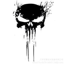 White Sticker Film Australia - 10*15CM InterestingP UNISHER Skull BLOOD Punisher Decoration Skull Black Silver Graphic Car Sticker Vinyl fashion hot