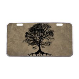"decorative plate holders UK - Sturdy and Beautiful License Plate Holders Fashion Tree of Life for Cars Decorative Front Plate 6.1"" X 11.8"""